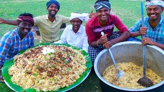BIRYANI | TRADITIONAL PRAWNS BIRYANI | Hyderabadi Style Dum Biryani Recipe Cooking In Village