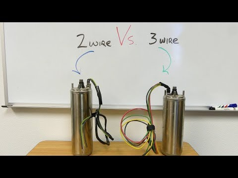 2 wire vs 3 wire well pump motors youtube