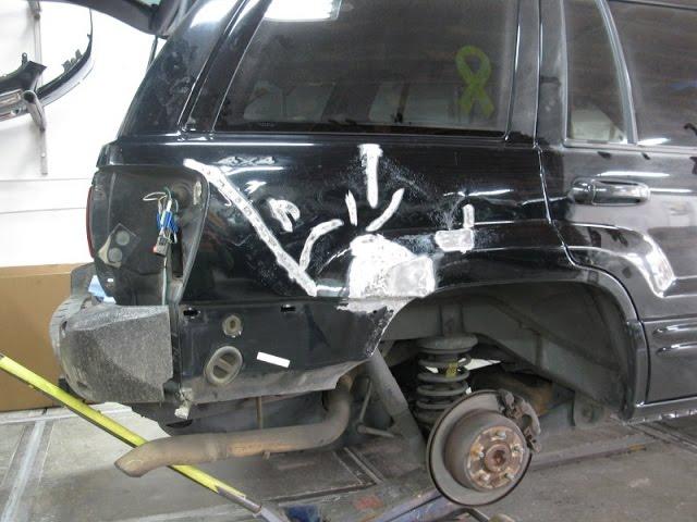 Black Jeep Quarter Panel Hard To Fix Repair Youtube