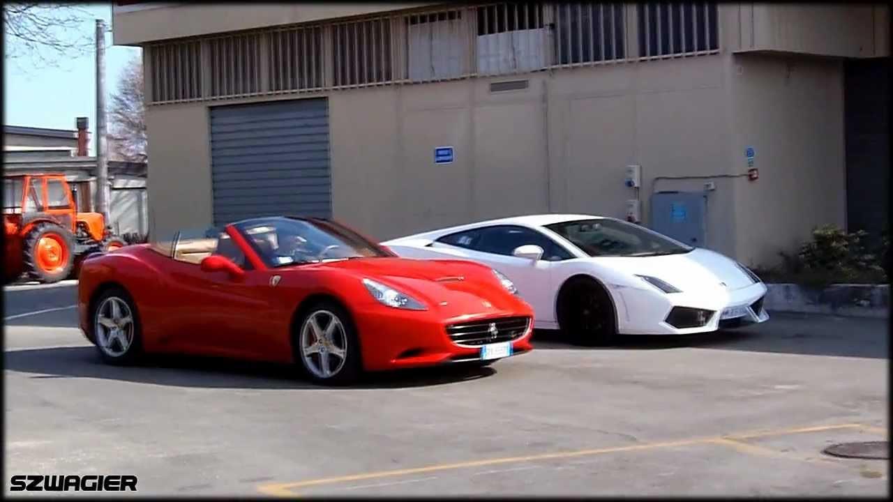 388 - Italy. Maranello - Ferrari California & Lamborghini Gallardo