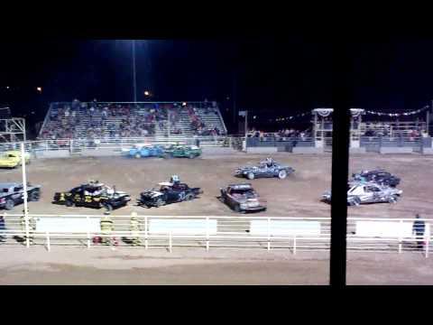 Vernal Utah Demolition Derby main event BW Welding