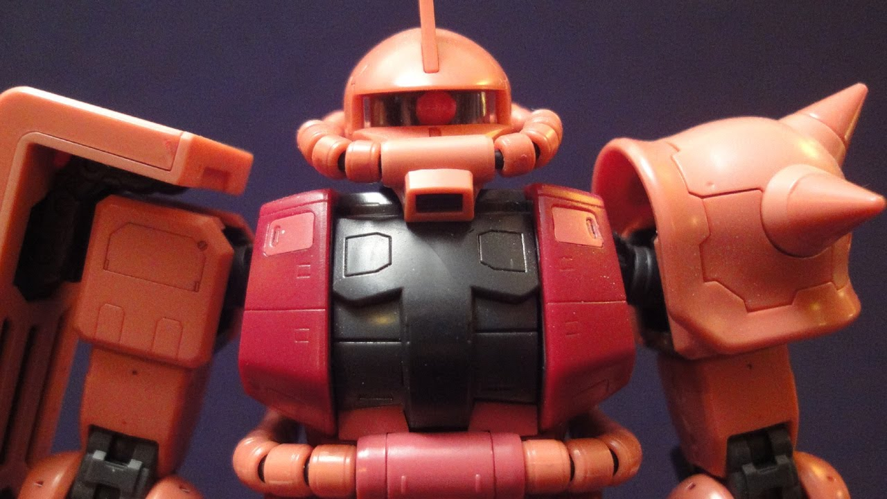 RG Char's Zaku II (Part 3: MS) Real Grade 1/144 Gundam ...