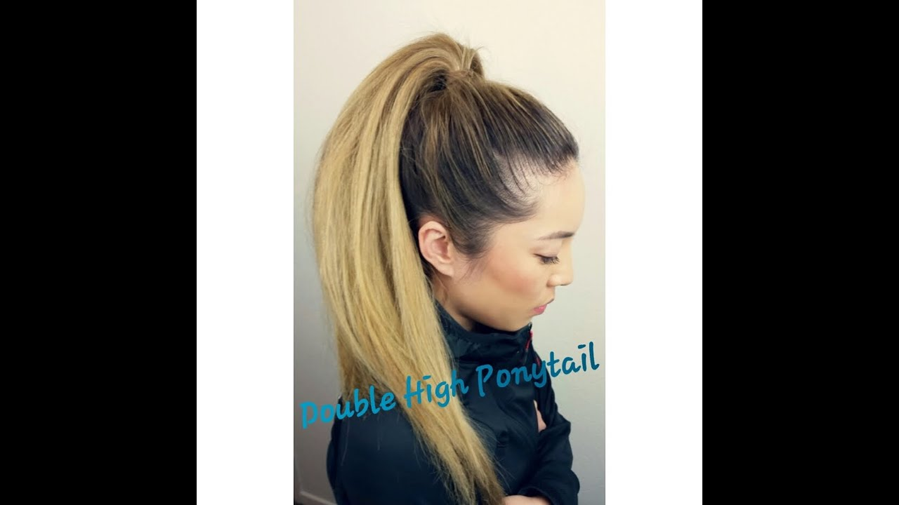 new years gym resolution tutorial- double high ponytail - youtube