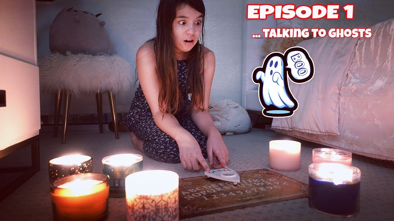 OUR HOUSE IS HAUNTED! Episode 1: Talking to Ghosts | Emily and Evelyn