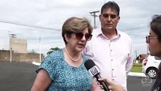Vereadores verificam rotatória no Jardim Reflorenda