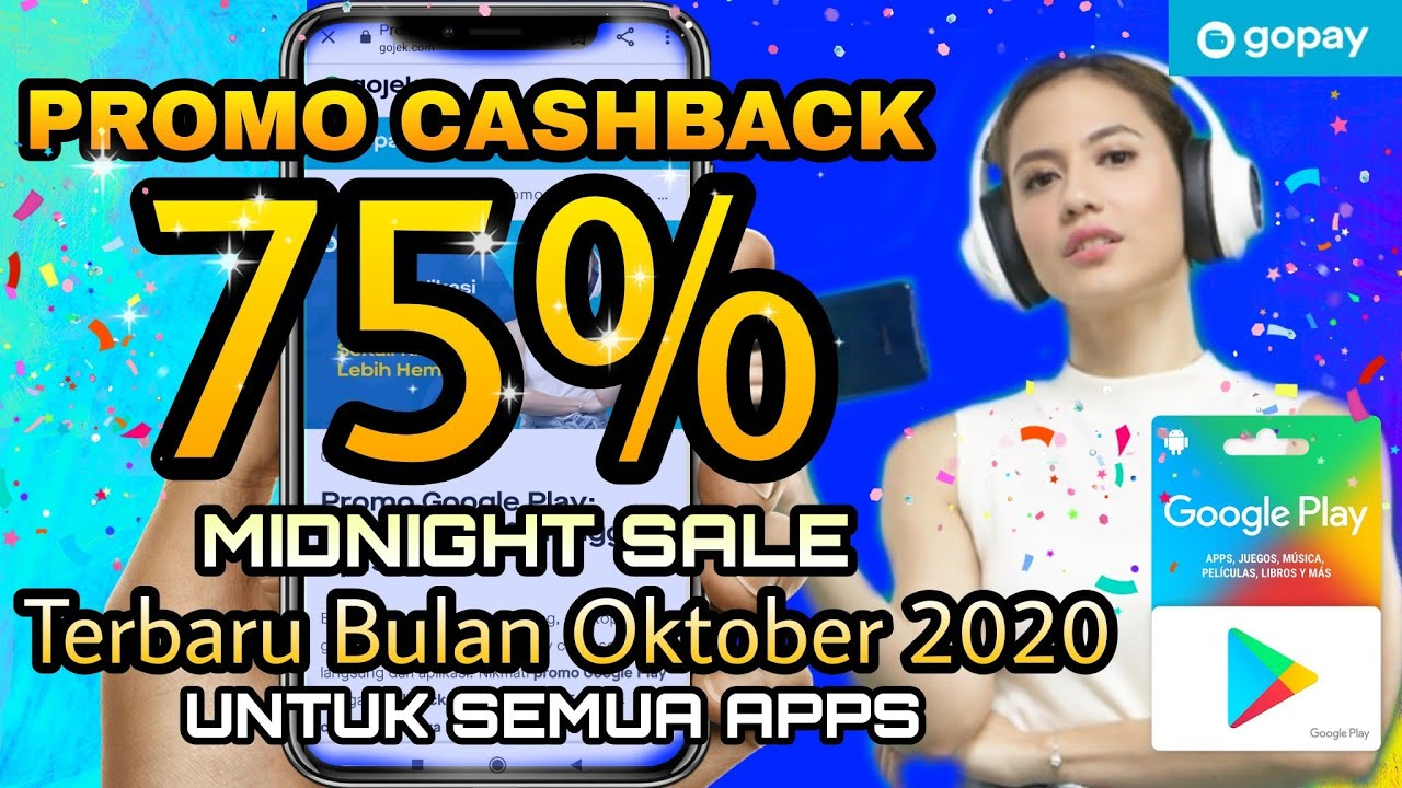 Promo Cashback Gopay 75 Semua Games Promo Midnight Sale Oktober 2020 Youtube