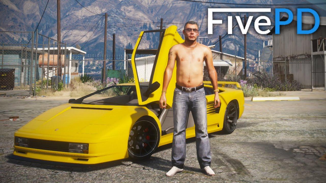 GTA 5 FivePD #13 - Supercar Suspect! (My Run)