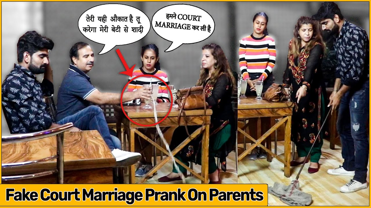 Waiter Bana Damaad Prank 0N My Friend's Parents - Fake Court Marriage | The HunGama Films