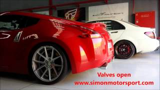 ARMYTRIX Valvetronic Exhaust on Nissan 370Z by Simon Motorsport Dubai