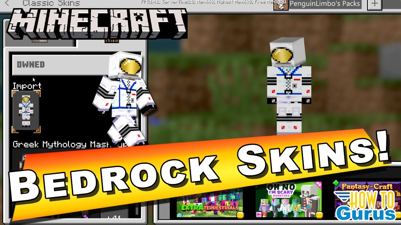 Minecraft Bedrock Custom Skins How To Give Your Avatar A Custom Skin With The Character Creator Youtube