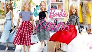 DIY. Como fazer roupas para Barbie | saias midi