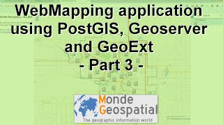 WebMapping application using PostGIS, Geoserver and GeoExt - Part 3