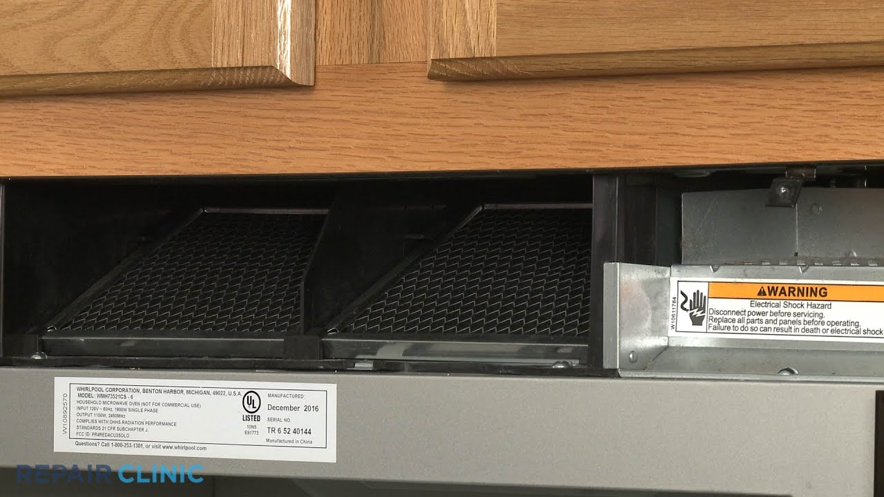 whirlpool microwave oven hood combo charcoal filter replacement 8206230a
