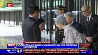 Jokowi dan Kaisar Akihito Bahas Seni di Istana