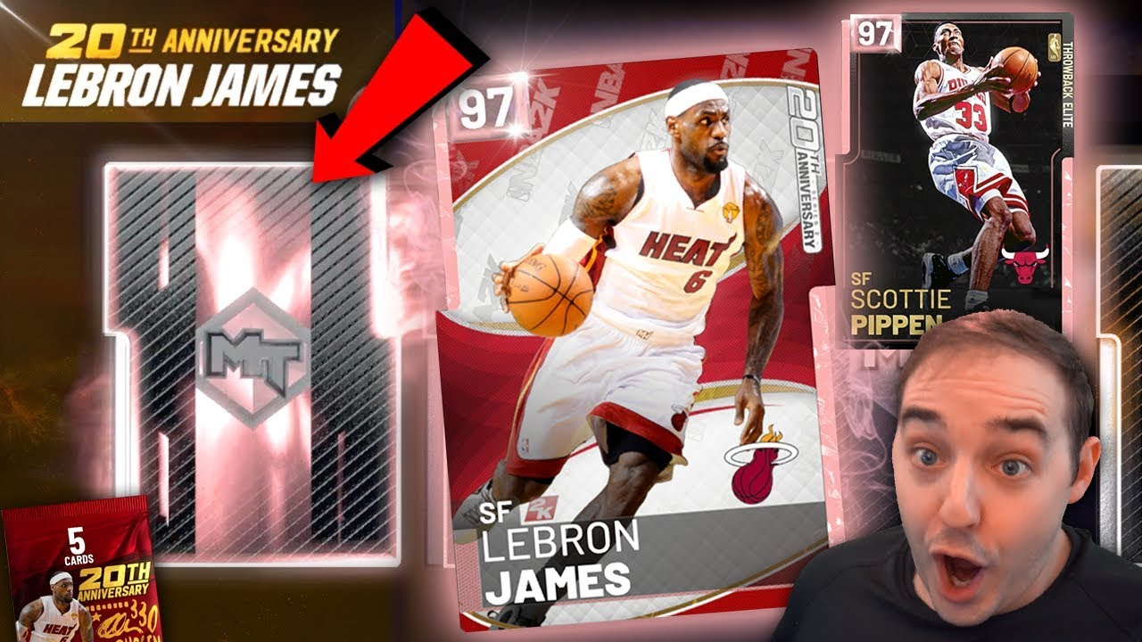 639cc32af1f6 NBA 2K19 My Team PINK DIAMOND LEBRON JAMES PACK OPENING! PINK ...