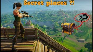Places secrètes dans la bataille de fortnite royale (LOADS OF CHESTS!!!)