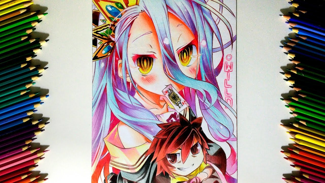 Drawing - Shiro ( No game No life ノーゲーム・ノーライフ )