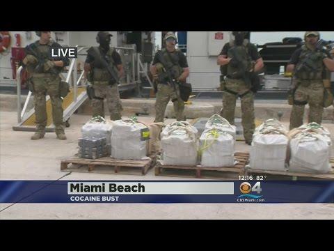 $17-Million In Cocaine Brought Ashore On Miami Beach