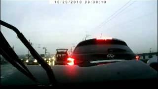 Съемка с видеорегистратора аварии