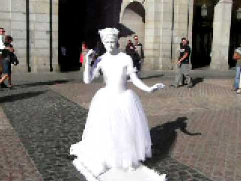 Street artist in Madrid