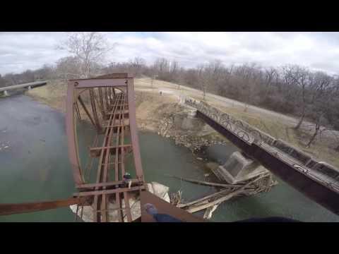 Urban Climbing Train Bridge Muncie, Indiana
