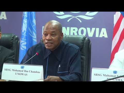 United Nations Missions in West Africa Mohamed Ibn Chambas address Press Conference In Liberia