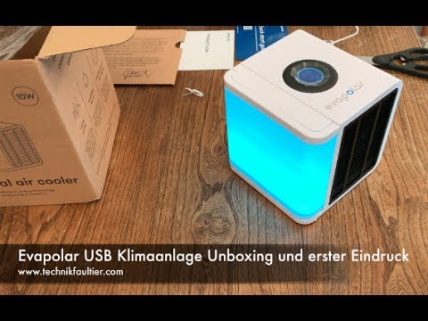 evapolar usb klimaanlage unboxing und erster eindruck. Black Bedroom Furniture Sets. Home Design Ideas