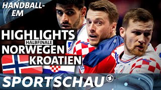 Highlights: Halbfinale Norwegen gegen Kroatien   Handball-EM   Sportschau