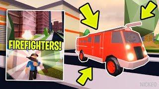 🔴 INSANE NEW JAILBREAK FIRE UPDATE TONIGHT!?! | NEW FIREFIGHTER TEAM! | ROBLOX LIVE 🔴