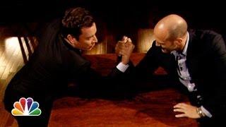 Jimmy Fallon and Jason Statham Arm Wrestle (Late Night with Jimmy Fallon)