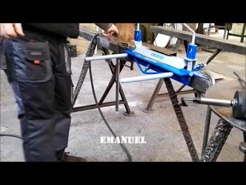 DIY Sheet Metal Bending Piegatrice lamiere fai da te.  Emanuel