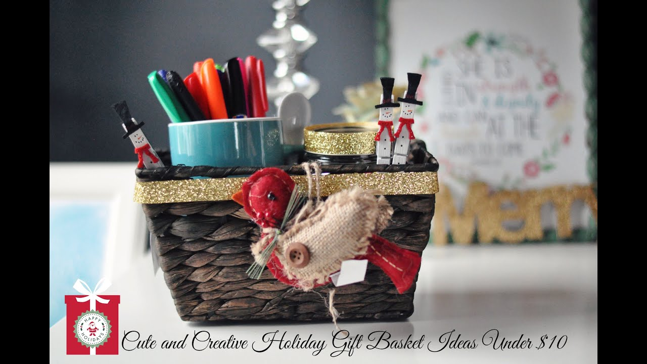 diy christmas gifts cute creative holiday gift baskets for under 10 youtube