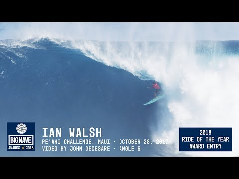 Ian Walsh at Pea'hi Challenge 6 - 2018 Ride of the Year Award Entry - WSL Big Wave Awards