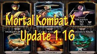 Mortal Kombat X Mobile Update 1.16 (Klassic Mileena, Injustice 2's Raiden, Kosplay Jacqui Briggs)