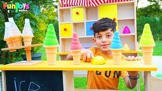 Selling Play Ice Cream, Fun Kids Video