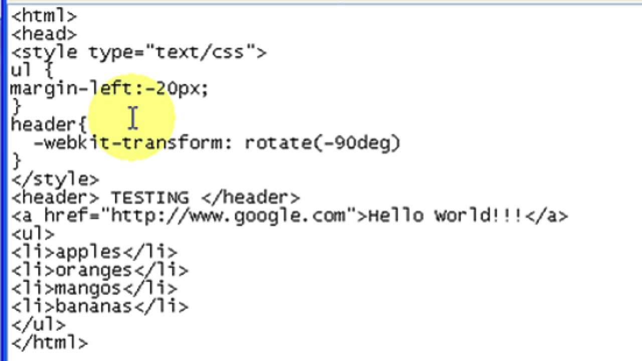 How to Rotate HTML Text 90 Degrees : HTML, CSS & More