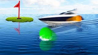 250MPH GOLFBALL vs. BOATS! (Golf It)