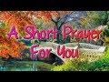 Short Prayer for Being Grateful - Short and Sweet Prayer - Gratitude Prayer to God