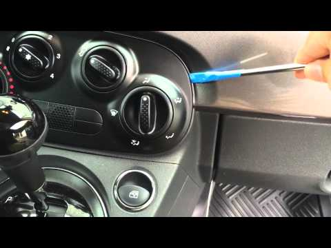 How To Change The Light Bulb Behind The HVAC Controls In A Fiat 500 Pop