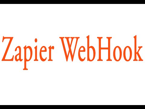 Zapier WebHook Tutorial