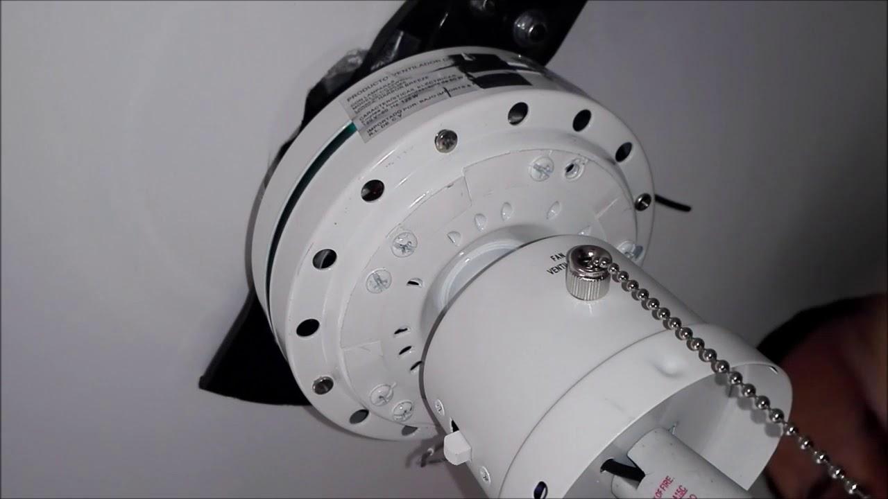 Instalacion De Armitage Ceiling Fan Ventilador De Techo