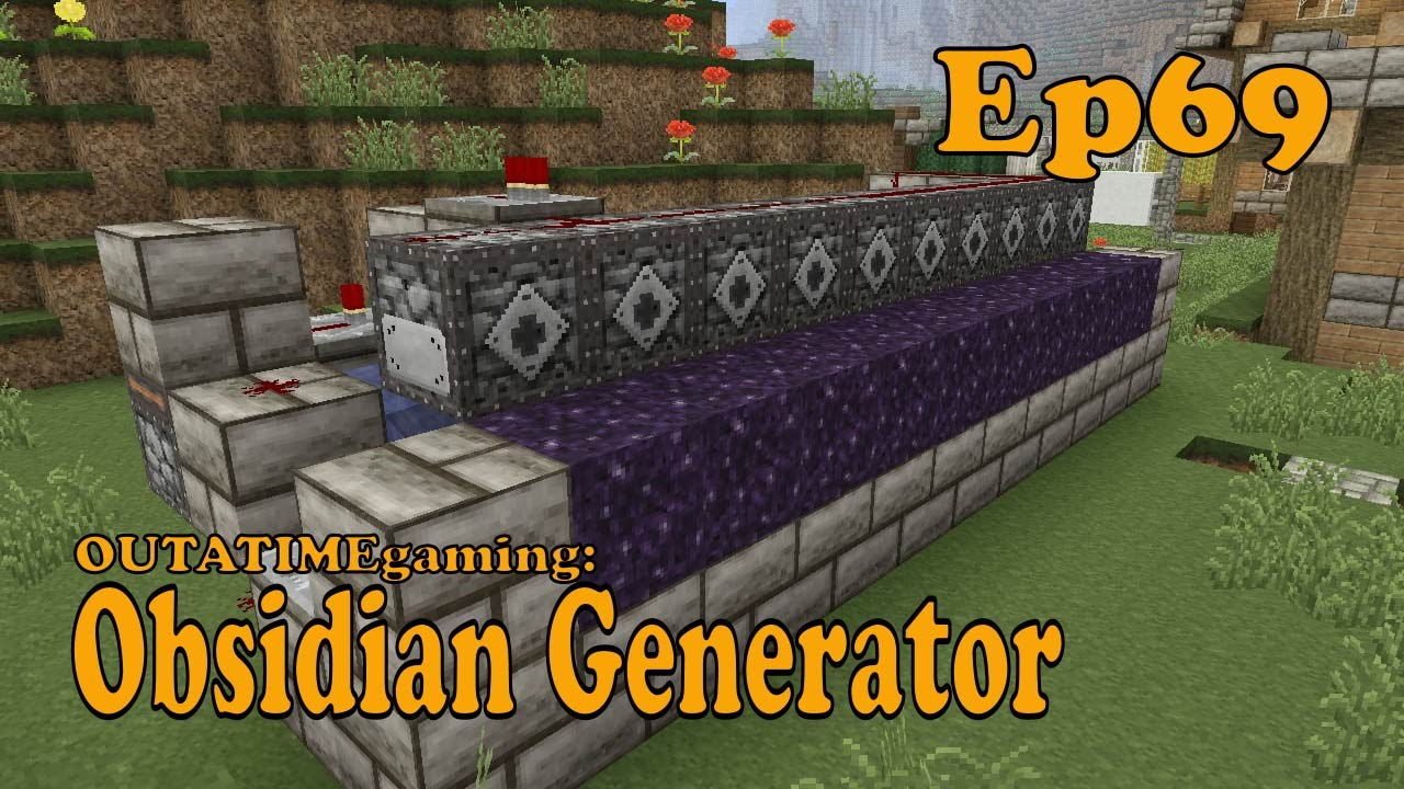 how to build an obsidian generator in minecraft pe