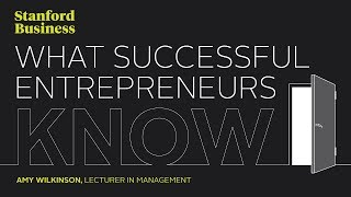 What Successful Entrepreneurs Know