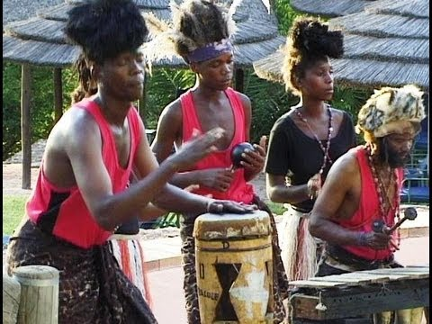 African Music Traditional Rhythm Band from Botswana Part 2