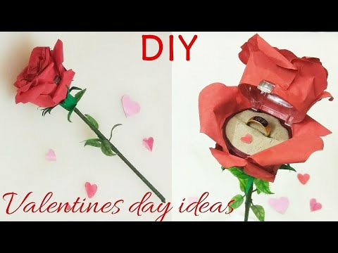 Valentines day gift ideas 3 , Red rose ring box making...