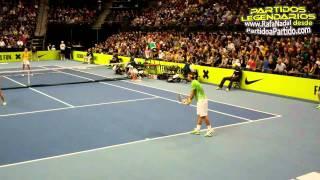 Maria Sharapova- Federrer, Nadal and Azarenka in Clash of the Champions Mixed Doubles HD 720p
