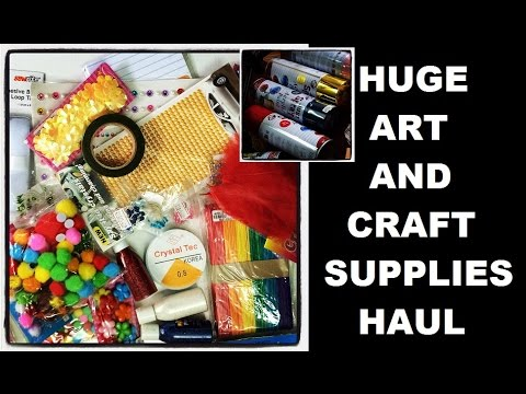 huge haul art and craft supplies 2015 by artyshils. Black Bedroom Furniture Sets. Home Design Ideas