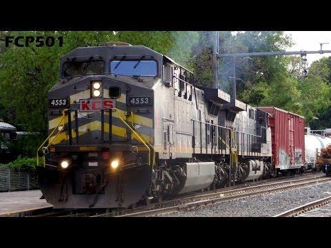 KCS de México: Tren Mixto en Estación Querétaro y Tren de trabajo FXE