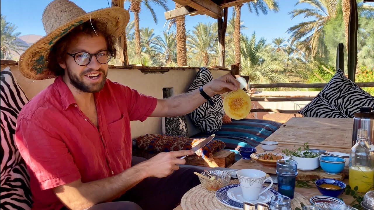MOROCCAN BREAKFAST BELDI,  Smen Baghrir, at Palmeraie Bab el Oued, Agdz Morocco Breakfast