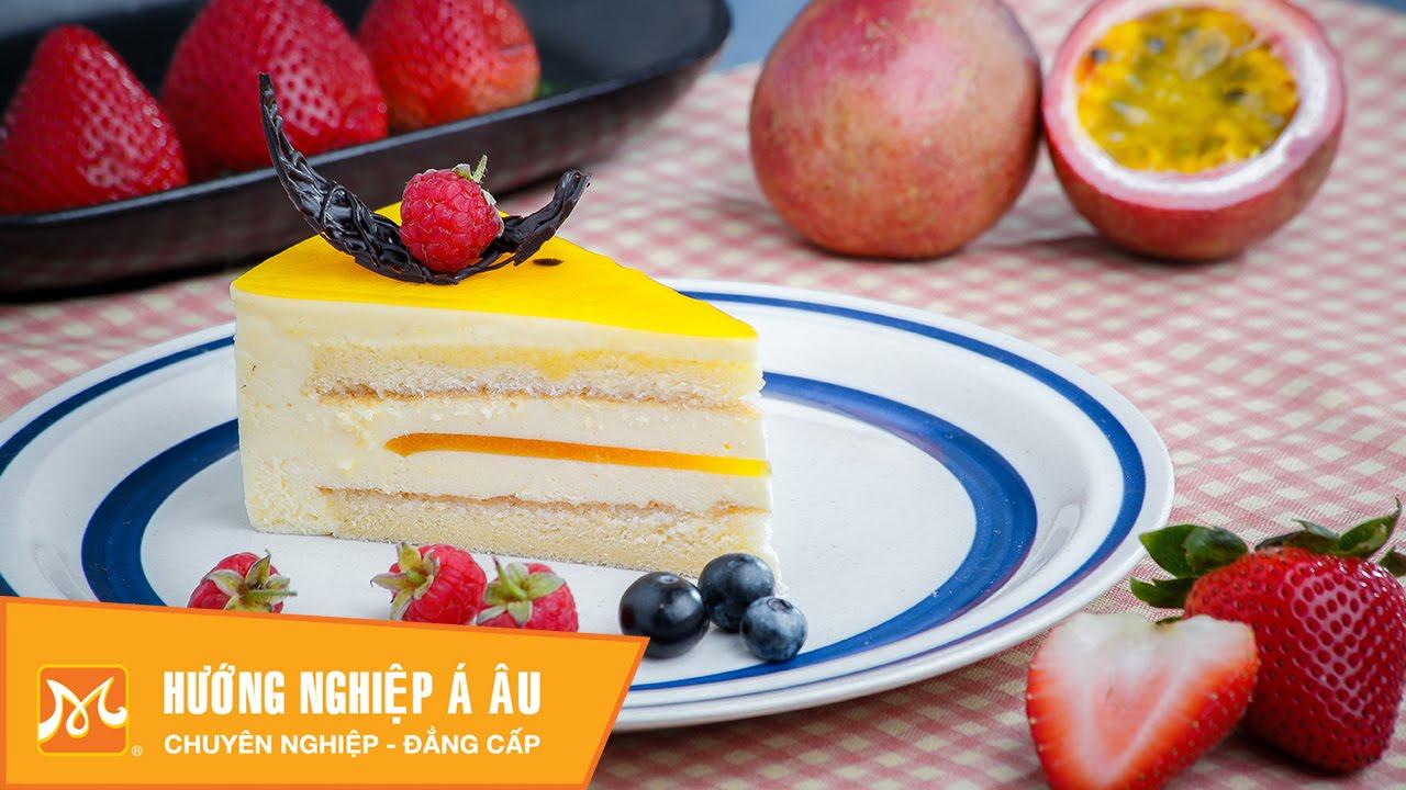 Cách làm bánh Passion Cheese Mousse Cake | Học làm bánh ngon